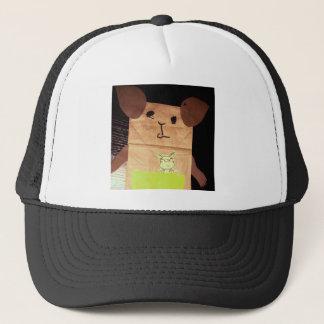 Brown piggy face trucker hat