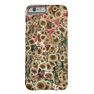 Brown, Pink And Green Marbleized Design Barely There iPhone 6 Case