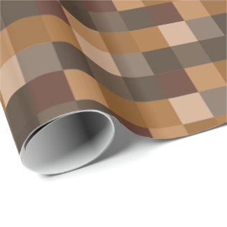 Brown Pixelated Pattern Wrapping Paper