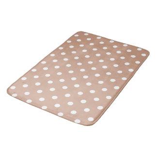 Brown Polka Dot Bath Mat