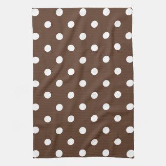 Brown Polka Dot Kitchen Towel