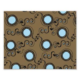 Brown polka dot pattern photographic print