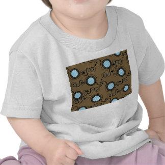 Brown polka dot pattern tshirt