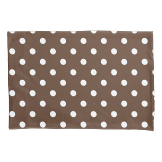 Brown Polka Dot Pillowcase
