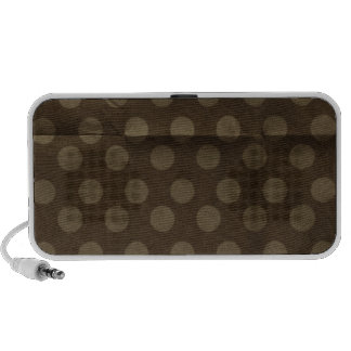 Brown Polka Dots Big with Crease Faded iPod Speaker