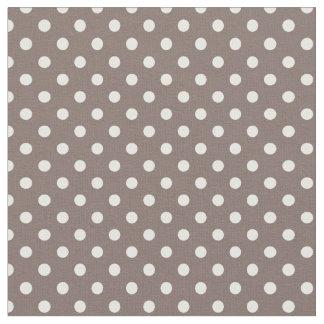 Brown Polka Dots Fabric