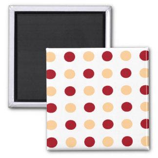Brown Polka Dots Magnet