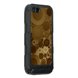 Brown Polkadot Coque iPhone 5 Incipio ATLAS ID™