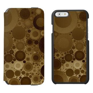 Brown Polkadot Coque-portefeuille iPhone 6 Incipio Watson™