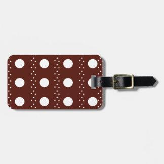 Brown Polkadot Stripes Bag Tag