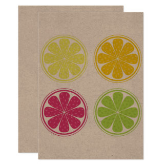 Brown postcard with Citruses