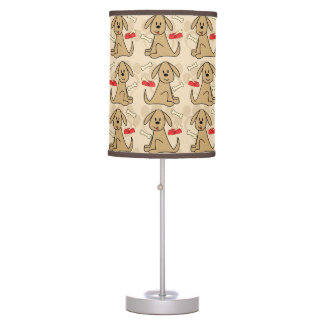 Brown Puppy Dog Design Table Lamp