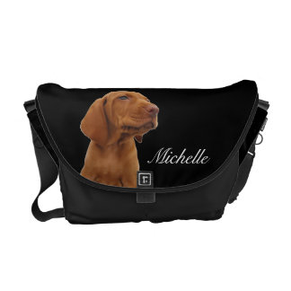 Brown Puppy Messenger Bag