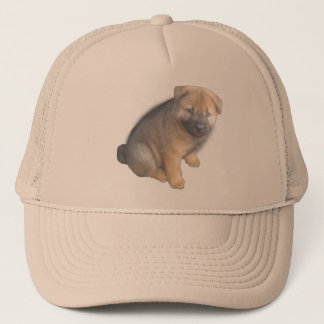 Brown Puppy show on a Trucker Hat