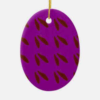Brown purple beans. Design beans. Ceramic Ornament