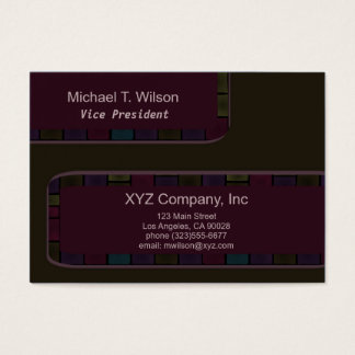Brown Purple tile Border Business Card