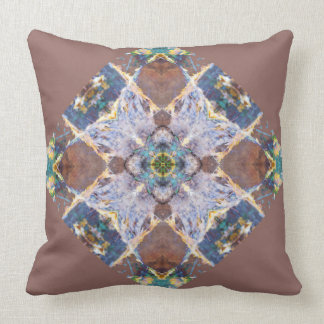Brown Quilt square Pillow