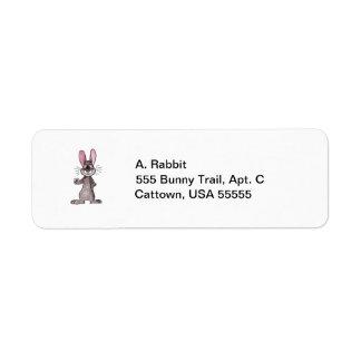 Brown Rabbit Return Address Labels
