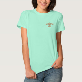 Brown Rabbit Women Embroidered Polo Shirt