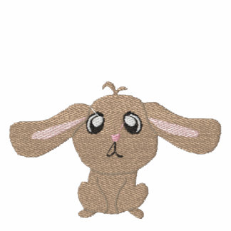 Brown Rabbit Women Embroidered T-Shirt