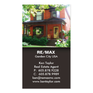 Brown Real Estate House Business Card