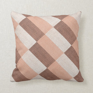 Brown Rectangles Design Throw Pillow