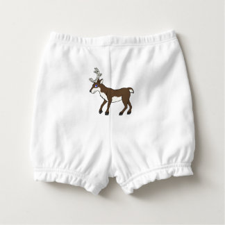 Brown Reindeer with Antlers Diaper Cover