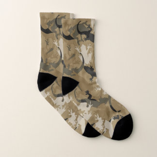 Brown Reptile Camouflage Socks 1