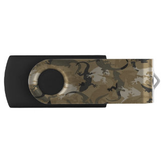 Brown Reptile Camouflage USB Flash Drive
