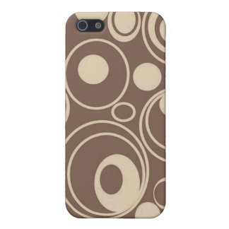 Brown Retro Circles Case For iPhone 5/5S