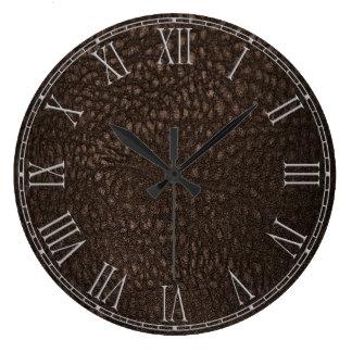Brown Retro Custom Leather Wall Clocks
