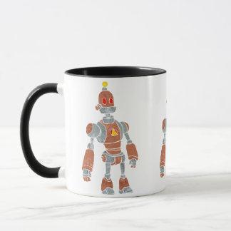 brown robot with lamp head mug
