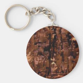 brown rock crumble keychain