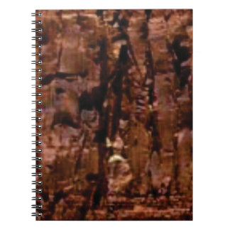 brown rock crumble notebook