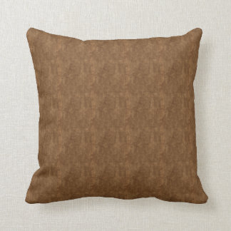 Brown Rock With Flecks of Gold Throw Pillow
