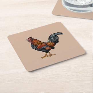Brown Rooster Coaster