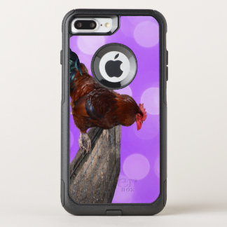 Brown Rooster Nosy Parker, OtterBox Commuter iPhone 8 Plus/7 Plus Case
