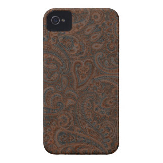 Brown & Rust Red Ornate Floral Paisley Pattern iPhone 4 Cover