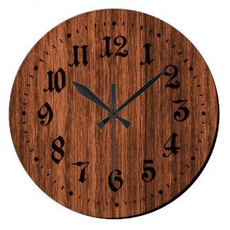 Brown Rustic Wooden Clock