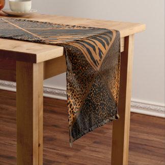 Brown Safari Animal Geometric Patterns Short Table Runner
