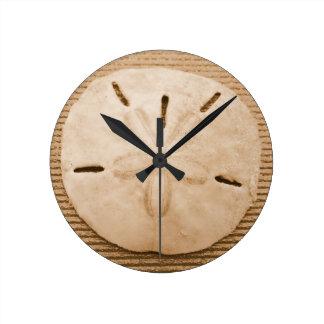 Brown Sand Dollar Round Clock