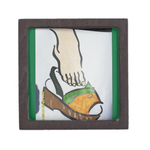 brown sandal gift box premium trinket box