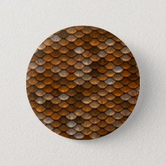 Brown scales pattern 2 inch round button