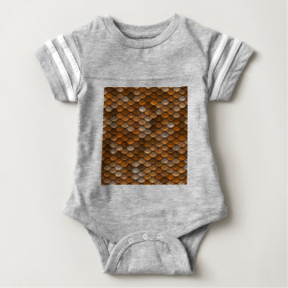 Brown scales pattern baby bodysuit