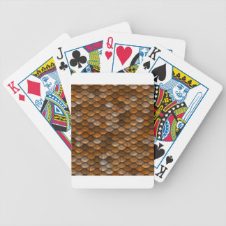 Brown scales pattern bicycle playing cards