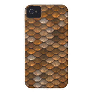 Brown scales pattern Case-Mate iPhone 4 cases