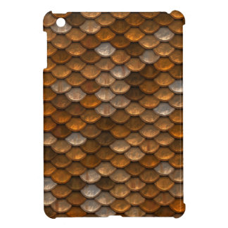 Brown scales pattern iPad mini cases