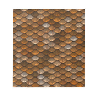 Brown scales pattern notepad