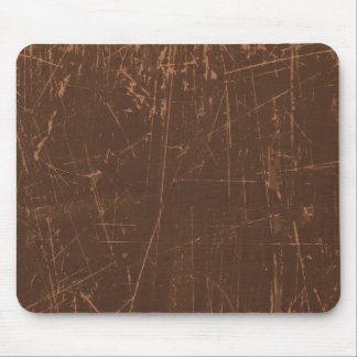 Brown Scratched Aged and Worn Texture Mouse Pad