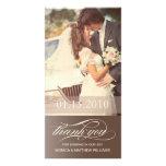 BROWN SCRIPT THANKS | WEDDING THANK YOU CARD CUSTOMIZED PHOTO CARD